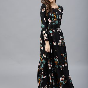 Tokyo-Talkies-Women-Black-Printed-Maxi-Dress