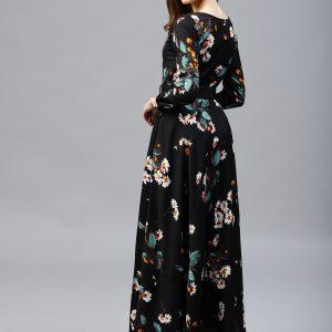 Tokyo-Talkies-Women-Black-Printed-Maxi-Dress