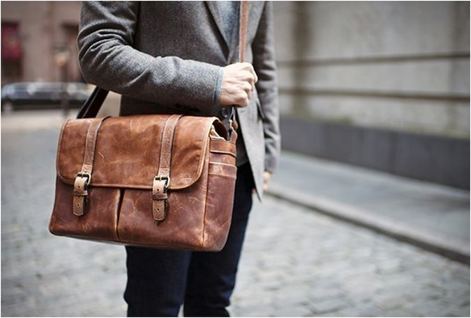 Leather-messenger-bag